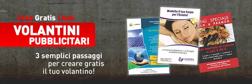 Creare Volantini Gratis Online da Stampare